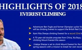 highlights of 2018: Everest climbing